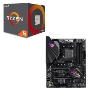 [パーツセット] AMD Ryzen 5 2600 + ASUS ROG STRIX B450-F ...