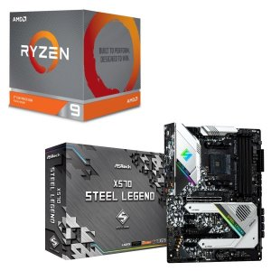 [パーツセット]AMD Ryzen 9 3900X BOX + ASRock X570 Steel ...