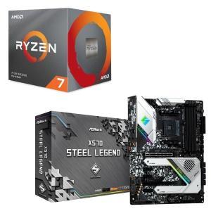 [パーツセット]AMD Ryzen 7 3700X BOX + ASRock X570 Steel ...