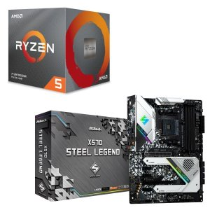 [パーツセット]AMD Ryzen 5 3600X BOX + ASRock X570 Steel ...