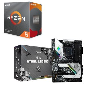 [パーツセット]AMD Ryzen 5 3600 BOX + ASRock X570 Steel L...