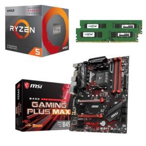 [パーツセット] AMD Ryzen 5 3400G  + MSI B450 GAMING PLUS MAX + CFD W4U2666CM-8G 3点セット
