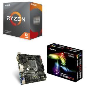 [パーツセット] AMD Ryzen 5 3600 BOX + BIOSTAR MicroATXマザ...
