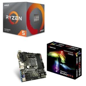 [パーツセット] AMD Ryzen 5 3600X BOX + BIOSTAR MicroATXマ...
