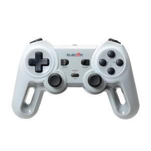 エレコム ワイヤレス ゲームパッド 13ボタン Xinput 振動 連射 高耐久 ホワイト JC-U...