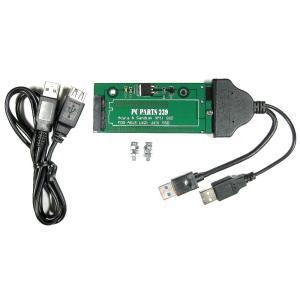 ASUS TAICHI21/31 UX21/31 18pin SSD to ダブルパワーUSB3.0 or SATA 22pin 変換アダプタ 延長ケーブル付き pc-parts-239