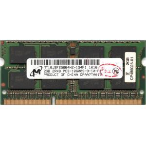 Micron PC3-10600S (DDR3-1333) 2GB SO-DIMM 204pin ノートパソコン用メモリ メーカー型番:MT16JSF25664HZ-1G4F1 両面実装 (2Rx8) 動作保証品 pc-parts-firm
