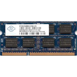 Nanya PC3-10600S (DDR3-1333) 2GB SO-DIMM 204pin ノートパソコン用メモリ 型番:NT2GC64B8HC0NS-CG 両面実装 (2Rx8) 動作保証品【中古】 pc-parts-firm