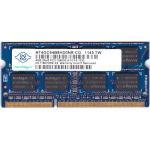 NANYA (NT4GC64B8HD0NS-CG) PC3-10600S (DDR3-1333) 4GB SO-DIMM 204pin ノートパソコン用メモリ 両面実装 (2Rx8) 動作保証品 pc-parts-firm