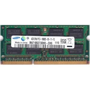 SAMSUNG PC3-10600S (DDR3-1333) 4GB SO-DIMM 204pin ノートパソコン用メモリ 型番:M471B5273DH0-CH9 両面実装 (2Rx8) 動作保証品 pc-parts-firm