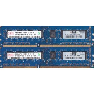 hynix PC3-10600U (DDR3-1333) 2GB x 2枚組 合計4GB 240ピン DIMM デスクトップパソコン用メモリ 動作保証品 pc-parts-firm