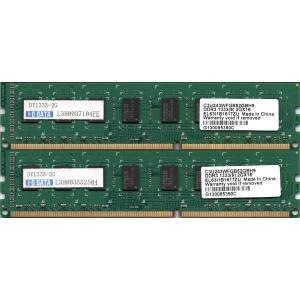 I-O DATA DY1333-2Gの2枚組 PC3-10600U (DDR3-1333) 2GB x 2枚組 合計4GB 240ピン DIMM デスク用メモリ 両面実装 (2Rx8)の2枚組(DY1333-2GX2互換)動作保証品 pc-parts-firm