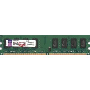 Kingston キングストン PC2-5300U (DDR2-667) 2GB 240ピン DIMM デスクトップパソコン用メモリ 型番:KVR667D2N5/2G 両面実装 (2Rx8) 動作保証品【中古】 pc-parts-firm