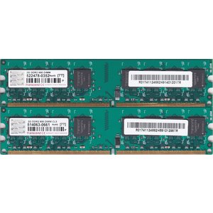 Transcend PC2-6400 (DDR2-800) 2GB x 2枚組み 合計4GB 240pin DIMM 4G Kit