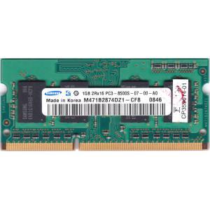 SAMSUNG PC3-8500S (DDR3-1066) 1GB SO-DIMM 204pin ノートパソコン用メモリ 型番:M471B2874DZ1-CF8 動作保証品 pc-parts-firm