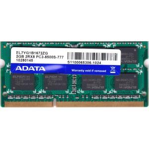 ADATA (EL7YG1B1672ZG) PC3-8500S (DDR3-1066) 2GB SO-DIMM 204pin ノートパソコン用メモリ 動作保証品 pc-parts-firm