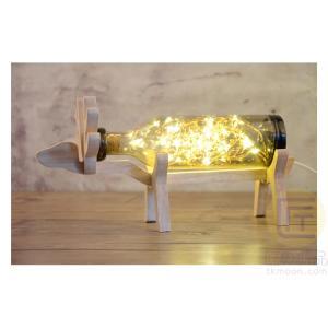 クリスマス グッズ LED トナカイ インテリアライト 照明 屋内 インテリア照明 グレー 匠の誠品|pc-parts|02