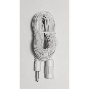 (イヤホン/インターホン延長)3.5Φモノラル極細延長コード(ホワイト) 10m