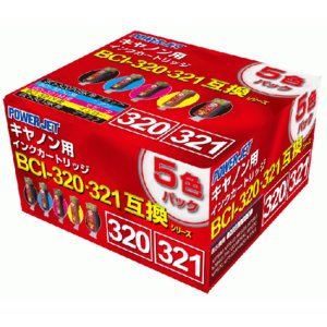 MP540 PIXUS BCI-321・4色+320PGBKマルチパック ●5パック入≪Power Jet 互換インク≫PIXUSMP540キヤノンピクサスmp-540 mp 540インクジェットカートリッジCanon