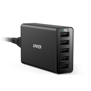Anker PowerPort 5 (40W 5ポート USB急速充電器) 【PSE認証済 / PowerIQ搭載】(ブラック) A2151N11 PowerPort 5X : アンカー・ジャパン|pcaboutshop