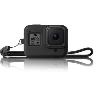 送料無料 GoPro Hero8 Black シリコンカバー ストラップ付き 高品質 シリコンカバー...