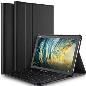 送料無料 HUAWEI MediaPad M5 Lite 10タブレット用 超薄レザーケース付き B...