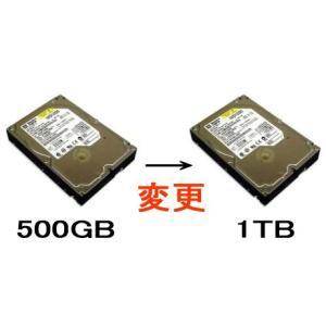 1TB/SATAに変更【500GB→1TB】