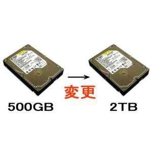 2TB/SATAに変更【500GB→2TB】
