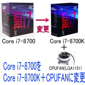 Intel Core i7-8700K 3.70GHz-Turbo時:4.70GHz//L3:12M...