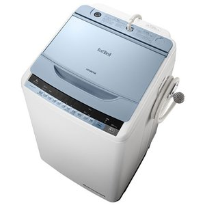 HITACHI 日立 全自動洗濯機 洗濯8kg ビートウォッシュ BW-V80A-A ブルー 即納・送料無料