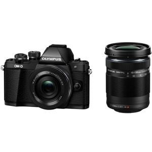 OLYMPUS オリンパス デジタル一眼レフカメラ OM-D E-M10 Mark II EZダブルズームキット ブラック 送料無料|pcfreak