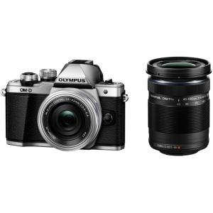 OLYMPUS オリンパス デジタル一眼レフカメラ OM-D E-M10 Mark II EZダブルズームキット シルバー  送料無料|pcfreak