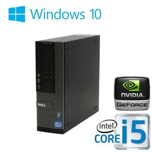 中古パソコン ゲ−ミングPC Core i5 3470 爆速メモリ32GB HDD2TB DVDマルチ GeforceGT1030 2GB HDMI Windows10 64bit DELL 7010SF 0180G|pchands
