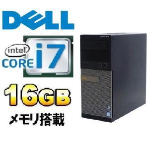 デスクトップパソコン Core i7 3770 メモリ16GB HDD500GB DVDマルチ リカバリあり Windows7 Professional 64Bit DELL Optiplex 7010MT d-142|pchands