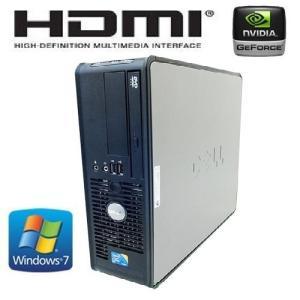 中古パソコン DELL Optiplex 780SF/ Core2Duo E7500(2.93Ghz)/メモリ高速DDR3-4GB/HDD250GB/DVD/新品GeforceGT710-1GB/HDMI/Windows7Pro(y-dg-155)
