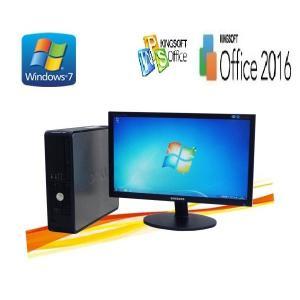 中古パソコン DELL Optiplex 780SF 20型ワイド液晶 /Core2 Duo E8400 /4GB /Office /Windows7Pro 64bit /y-dtb-505)