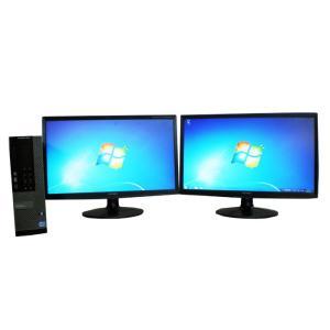 中古パソコン デスクトップパソコン 22型 デュアルモニタ Core i5 メモリ4GB HDD250GB DVDマルチ Windows7Pro 32bit Office付き DELL 7010SF dtb-510-2|pchands