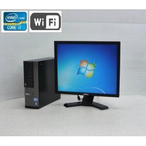 中古パソコン デスクトップパソコン Core i7 3770  19型 液晶 DELL 7010SF 大容量メモリ8GB HDD500GB DVDマルチ Windows7Pro 64bit dtb-581-2|pchands