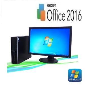 中古パソコン デスクトップパソコン Core2Duo E6850 3GHz  20型ワイド液晶 メモリ4GB HDD250GB DVDマルチ Office Windows7 Pro 64bit HP6000SF dtb-600|pchands