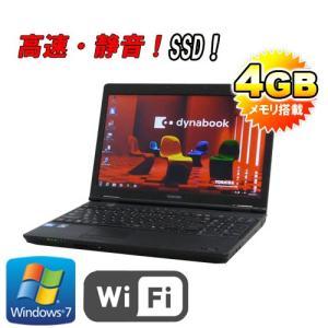 中古パソコン 東芝 dynabook B452/F 15.6型LED液晶/Celeron Dual Core B820/SSD120GB(新品)/メモリ4GB/DVDマルチ/無線LAN/64Bit Win7Pro(y-na-146)|pchands