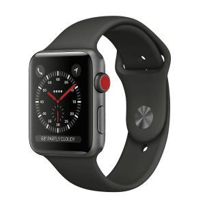 中古 apple watch アップルウォッチ本体 Apple Watch Series 3 GPS + Cellularモデル 42mm アルミニウム [スペースグレイ] A1891 Apple バンド付き Bランク|pcjungle