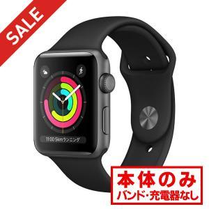 中古 apple watch アップルウォッチ 本体 Apple Watch Series 3 GPSモデル 42mm アルミニウム [スペースグレイ] MQL12J/A Apple Bランク|pcjungle