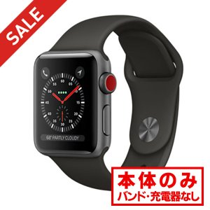 中古 apple watch アップルウォッチ 本体 Apple Watch Nike+ Series 3 GPS + Cellularモデル 38mm アルミニウム [スペースグレイ] MQM82J/A Apple Bランク|pcjungle