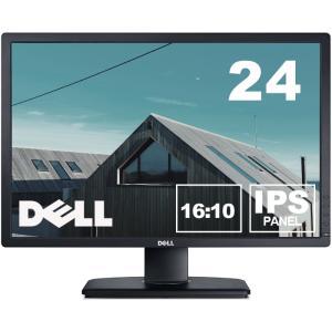 Dell 24インチワイドLED液晶モニタ U2412M IPSパネル 1920x1200 16:10 画面回転 高さ調整 中古ディスプレイ あすつく|pcmax