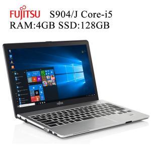 富士通 FMV S904/J 第四世代 Core i5-4300U 4GBメモリ SSD128GB Office付き Win10 中古ノートパソコン pcmax
