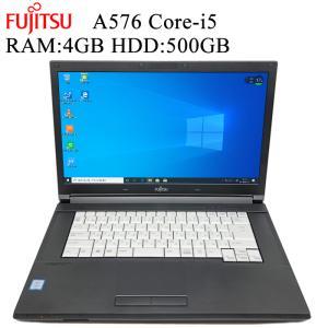 オシャレなレッドライン 富士通 FMV A576 第六世代Core-i5 RAM:4GB HDD:500GB 正規版Office付き Win10 中古ノートパソコン|pcmax