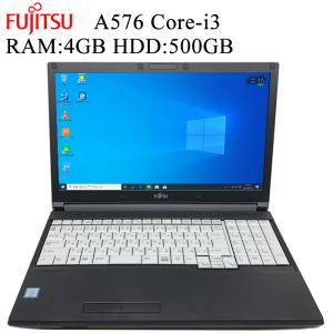 オシャレなレッドライン 富士通 FMV A576 第六世代Core-i3 RAM:4GB HDD:500GB 正規版Office付き Win10 中古ノートパソコン|pcmax