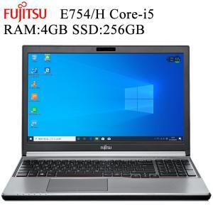 在宅勤務対応 富士通 FMV E754 第四世代 Core i5-4300M 4GBメモリ 新品SSD256GB Office付き Win10 中古ノートパソコン HDMI|pcmax