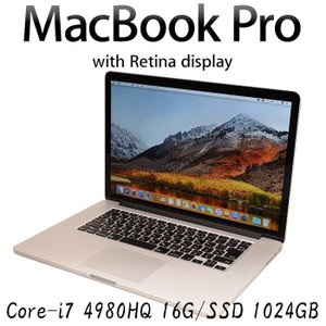 Apple MacBook Pro A1398 Core i7-4980HQ 16GBメモリ SSD1024GB 15.4インチ Retina Mid-2015 EMC 2910 中古ノートパソコン|pcmax