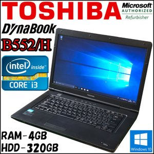Microsoft Refurbisher PC 東芝 TOSHIBA B552/H 第三世代Core i3-3120M  中古ノートパソコン pcmax